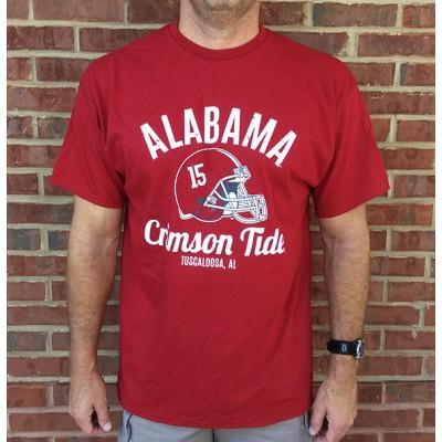 Bama Helmet Crimson Shirt