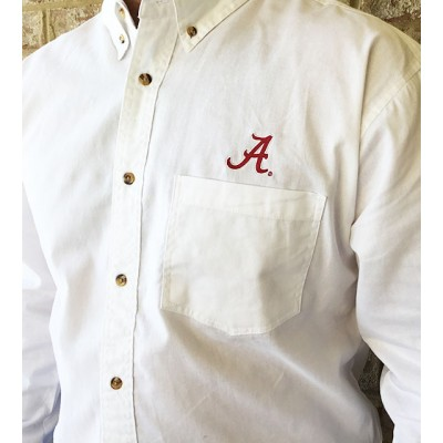 White Bama Button Down