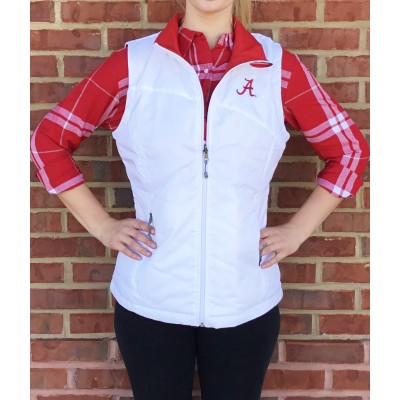 White Crimson Reversible Vest