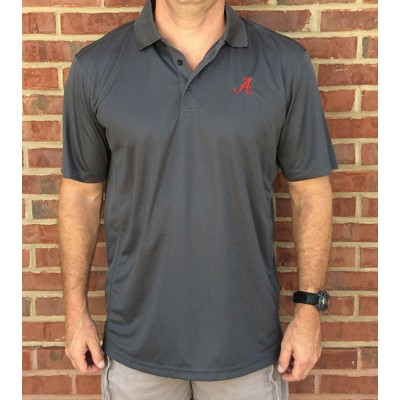 Alabama Grey Logo Polo