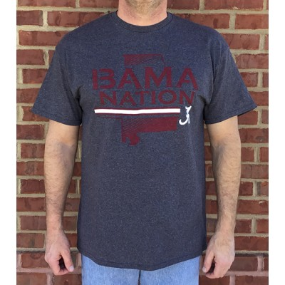Bama Nation Grey Shirt
